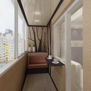 Как выполнить натяжной потолок на балконе?