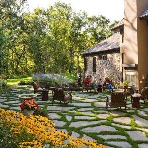 Ландшафтный дизайн: деревенский стиль