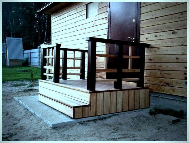 Простое крыльцо к деревянному дому своими руками проекты фото