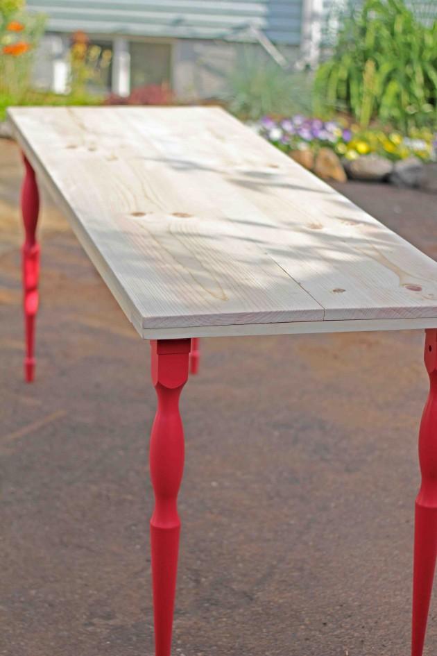 деревянные столы для дачи