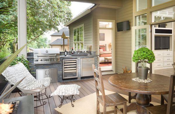 кухня на закрытой террасе