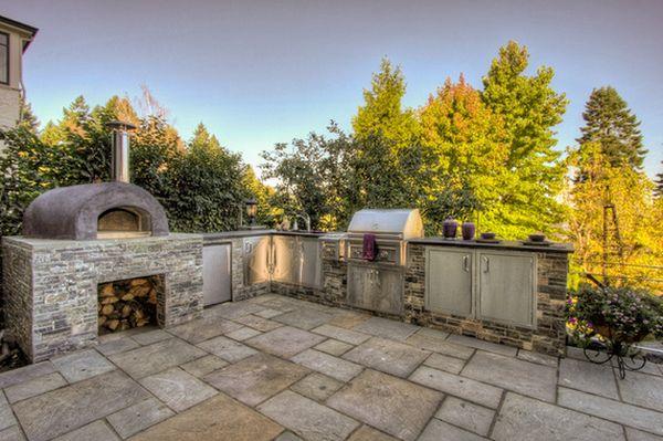 кухня на улиые и печь для пиццы (1)
