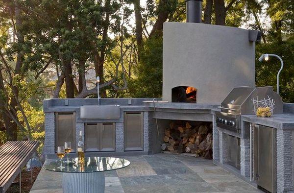 кухня на улиые и печь для пиццы (2)