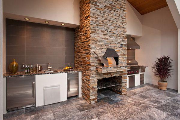 кухня на улиые и печь для пиццы (3)