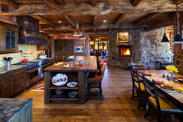 Кухня в деревенском стиле кантри (10)