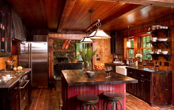 Кухня в деревенском стиле кантри (13)