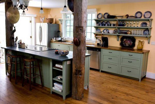 Кухня в деревенском стиле кантри (2)