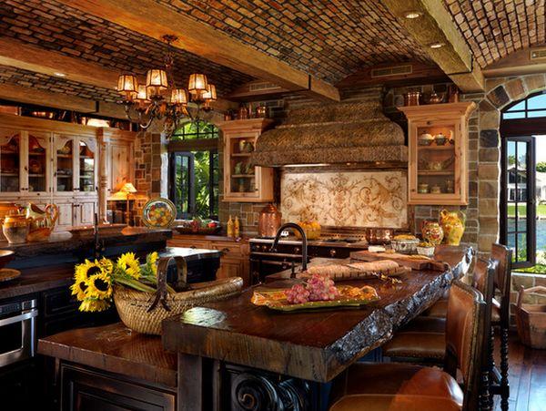 Кухня в деревенском стиле кантри (8)