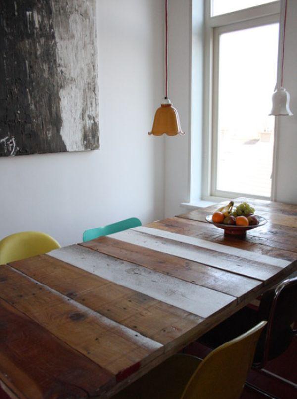 дизайн деревянного стола