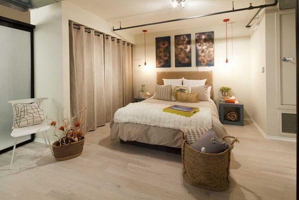 занавески в спальне как идея декора