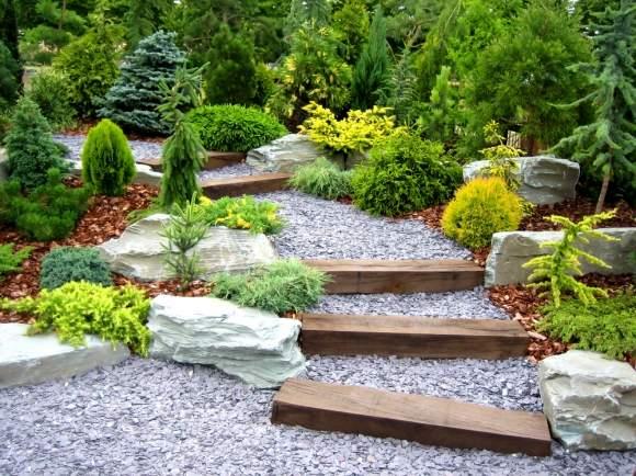 освещение лестницы в саду