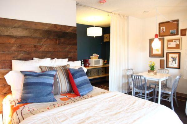 переработання древесина в дизайне кровати
