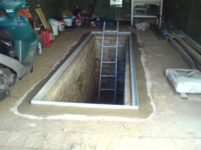 смотровая яма в гараже из пеноблоков своими руками