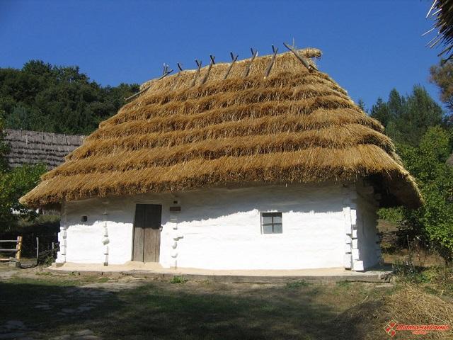 устройство крыши соломенного дома