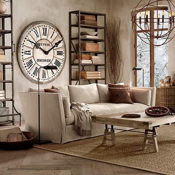 Настенные часы в интерьерах