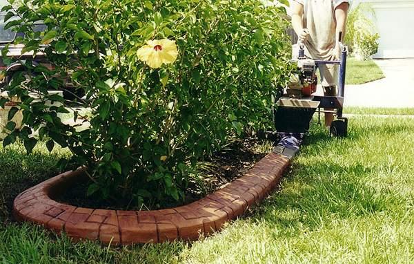 бордюры из камня для цветочной клумбы