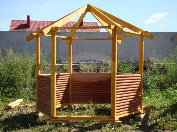 деревянная беседка технология строительства