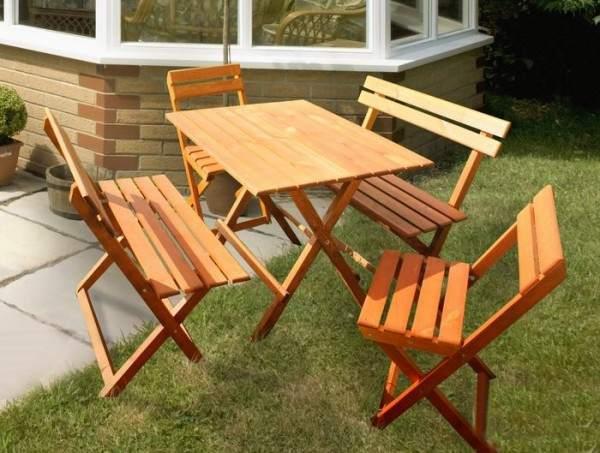 деревянная складная мебель для сада