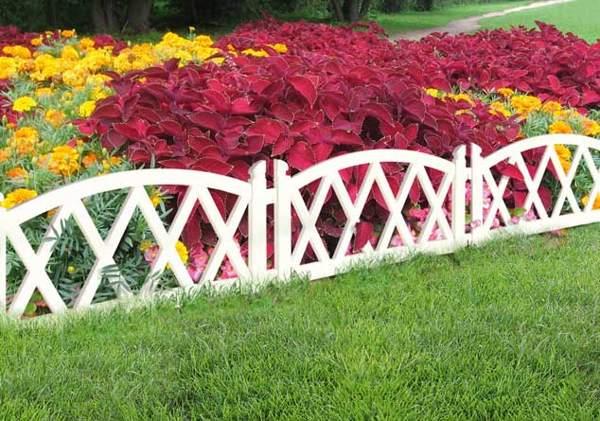 деревянный забор для клумбы