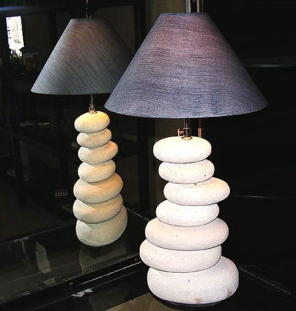 каменная лампа