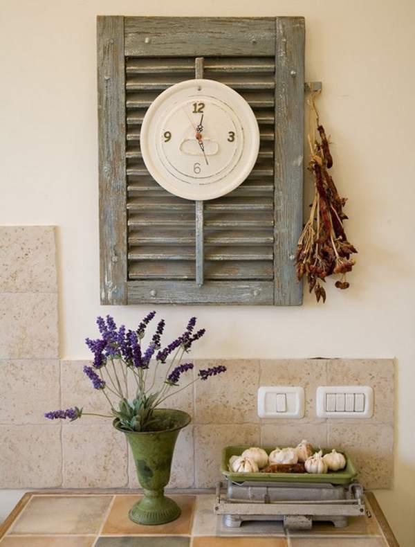 Декор кухонных часов