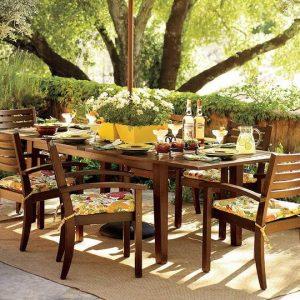 место для пикника в саду