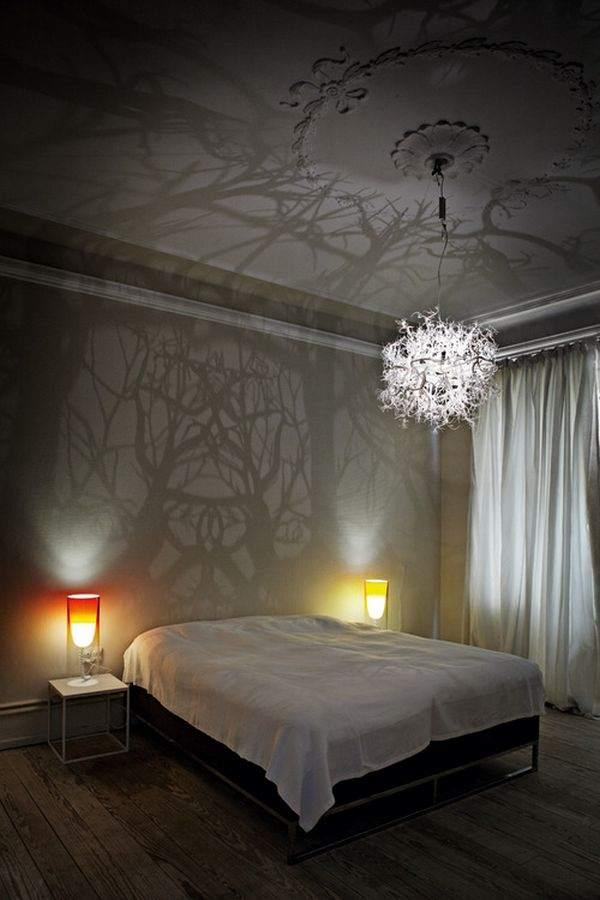 современные лампы для освещения спальни