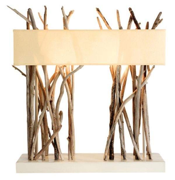 современное освещение деревянная лампа