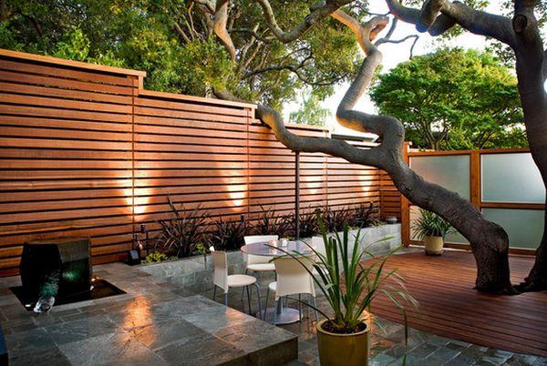 современный дизайн деревянного забора (1)