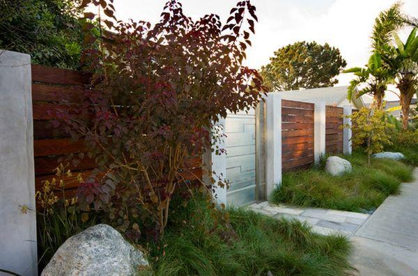 современный дизайн деревянного забора (3)