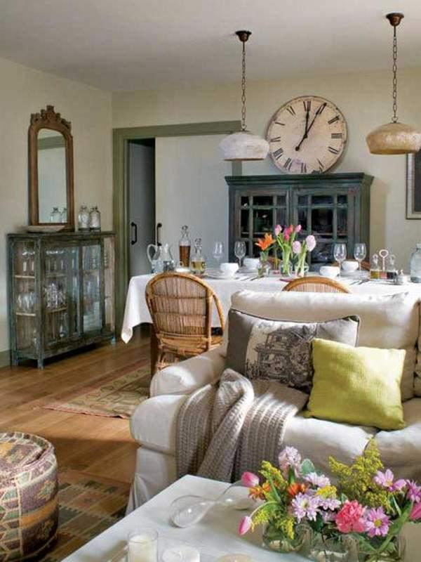часы в стиле прованс в гостиную