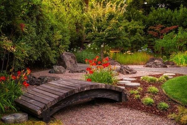 деревянные мостики для сада