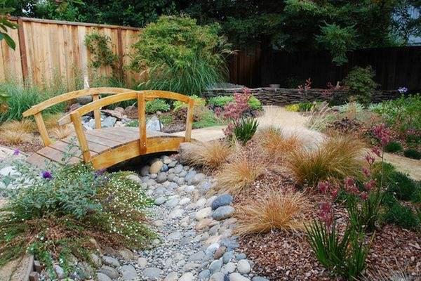 деревянные садовые мостики