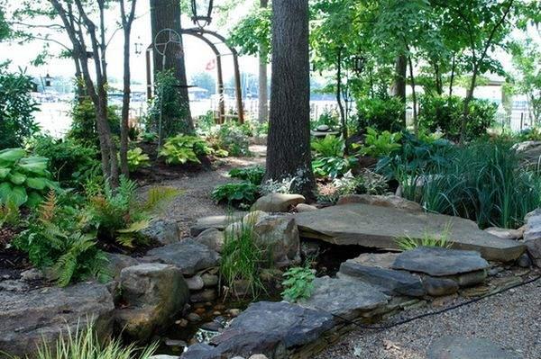 каменный мостик для сада