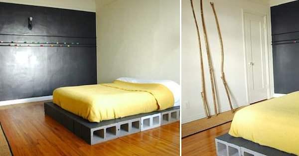 Основание из шлакоблоков для кровати