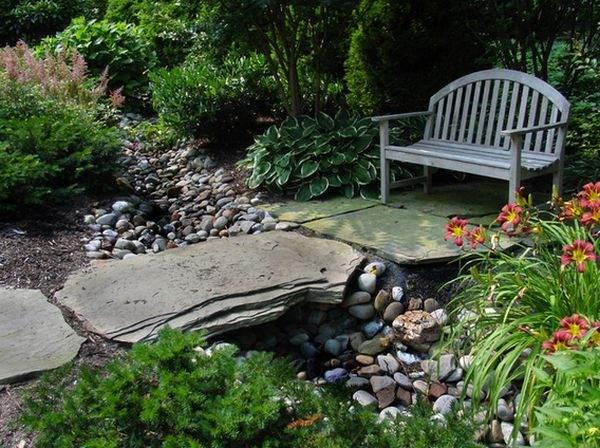 садовый мост из камня