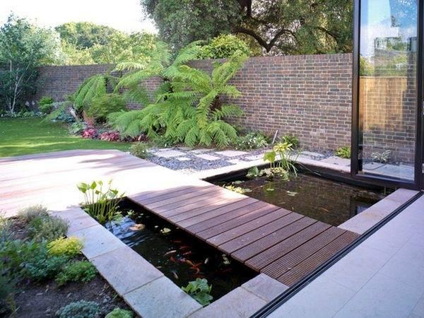 современный мост для сада