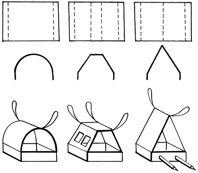 четреж кормушки для птиц из картона