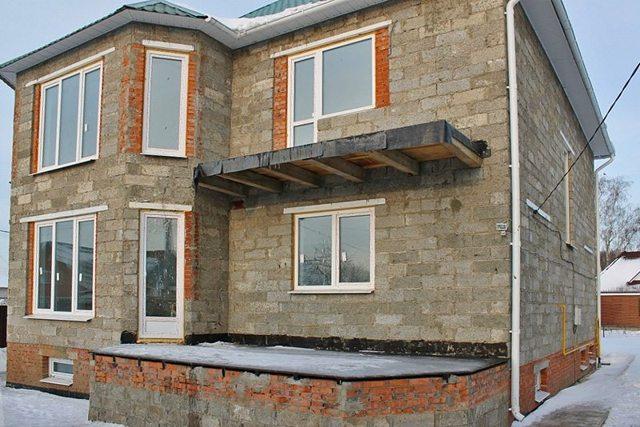 дом из арболитовых блоков