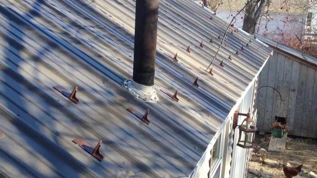 Как и из чего сделать снегозадержание на крыше 801