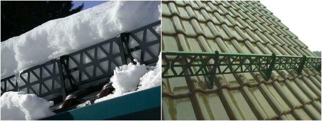 Задержание снега на крыше своими руками 73