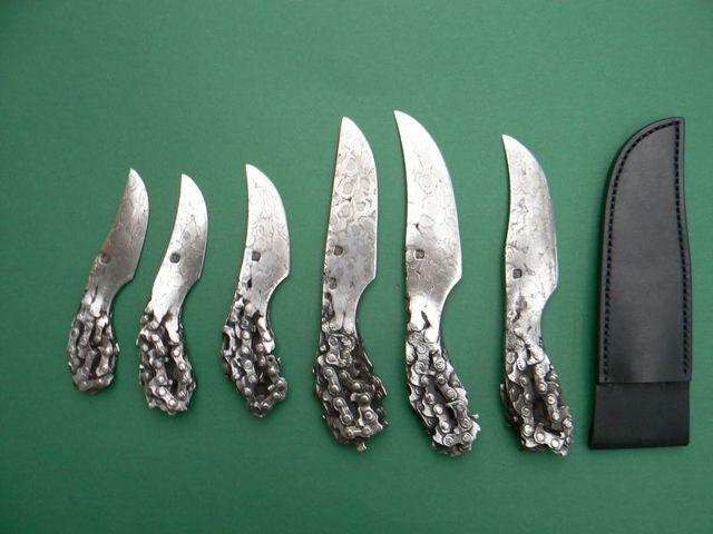 Цельнокованый нож из цепи