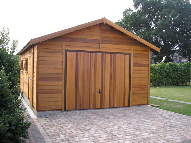 Строительство гараж из бруса своими руками 79