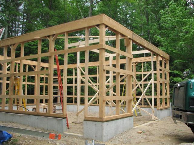 каркас для деревянного гаража