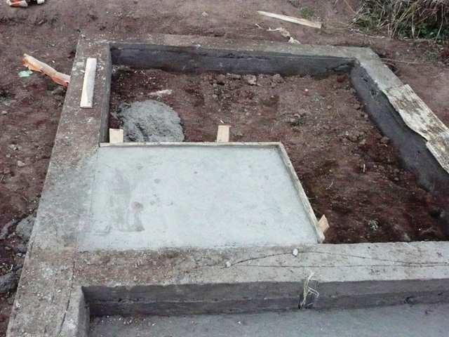 Фундамент под печь для бани