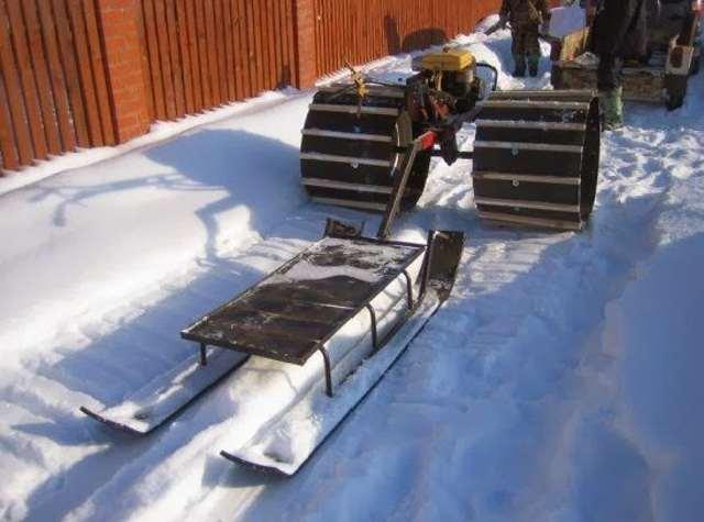Снегоход из мотоблока своими руками
