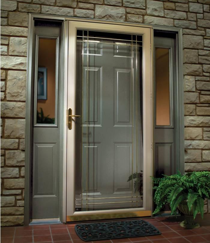 Алюминиевая дверь для частного дома