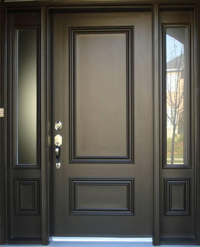 Входная стальная дверь для котеджа