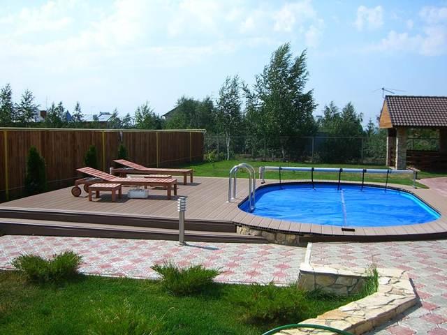 Бетонный бассейн для загородного дома
