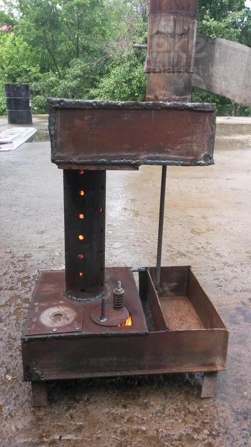 Самодельная печь на отработанном масле